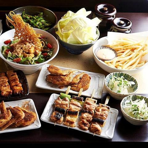 新宿の焼き鳥が美味しい居酒屋[とりいちず]の女子会コース